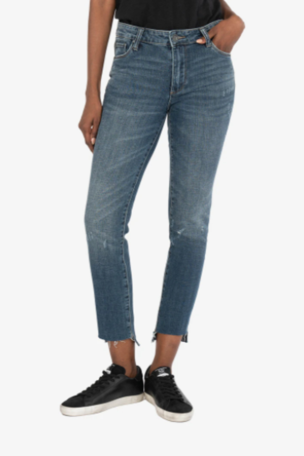 KUT Reese Ankle Straight Leg Jeans - Main Image