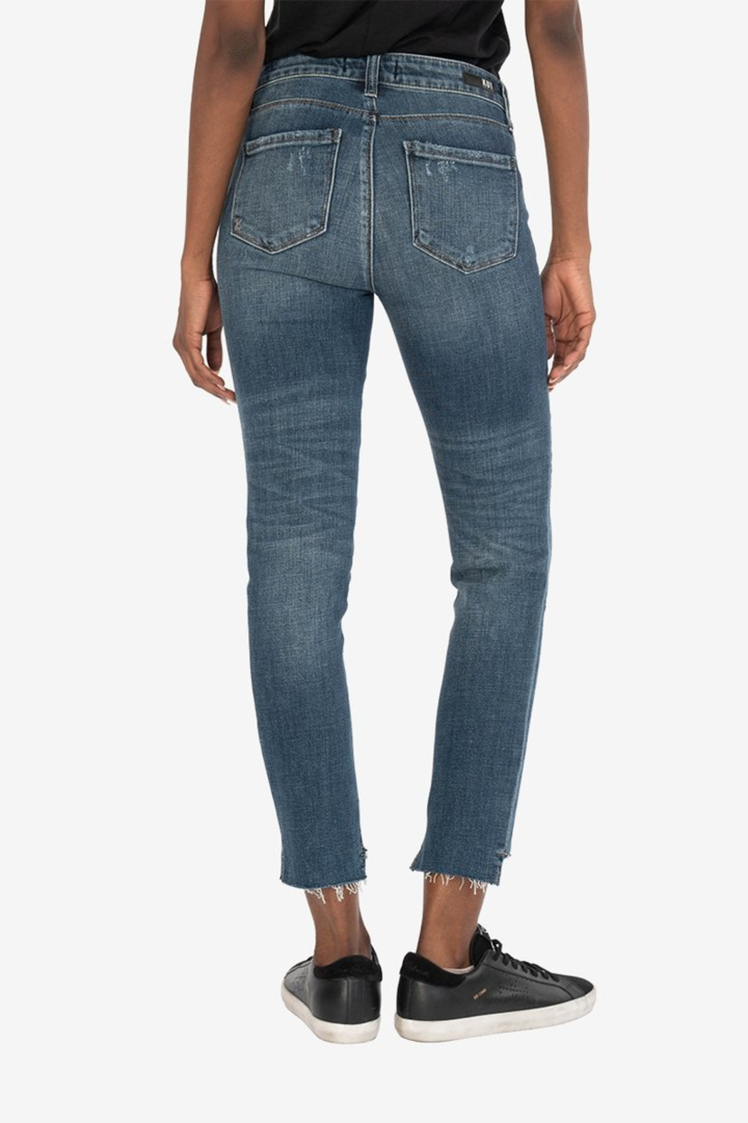 KUT Reese Ankle Straight Leg Jeans - Side Cropped Image