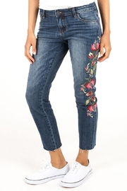 Kut from the Kloth Reese Floral Straight-Leg - Product Mini Image