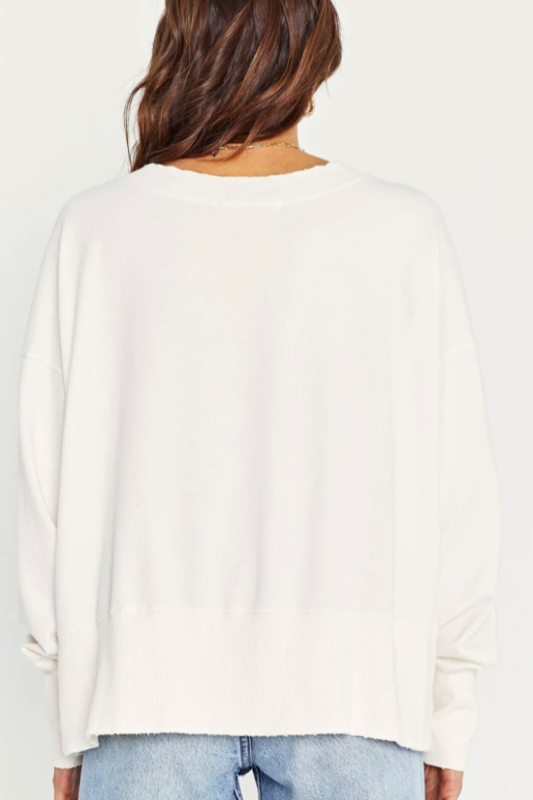 Project Social T Reese Grinded Sweatshirt - Back Cropped Image