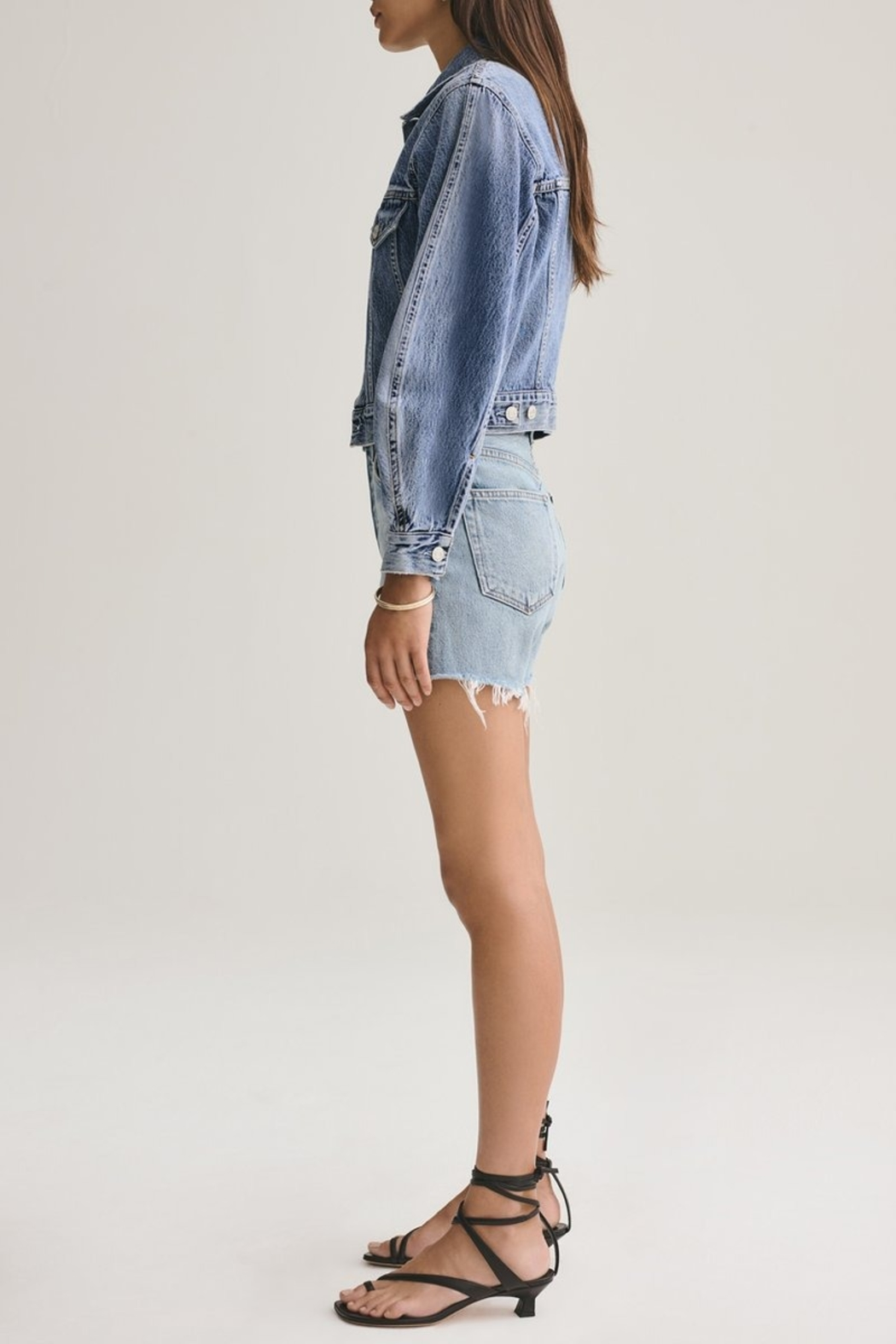 AGOLDE Reese Relaxed Cut Off Short - Side Cropped Image