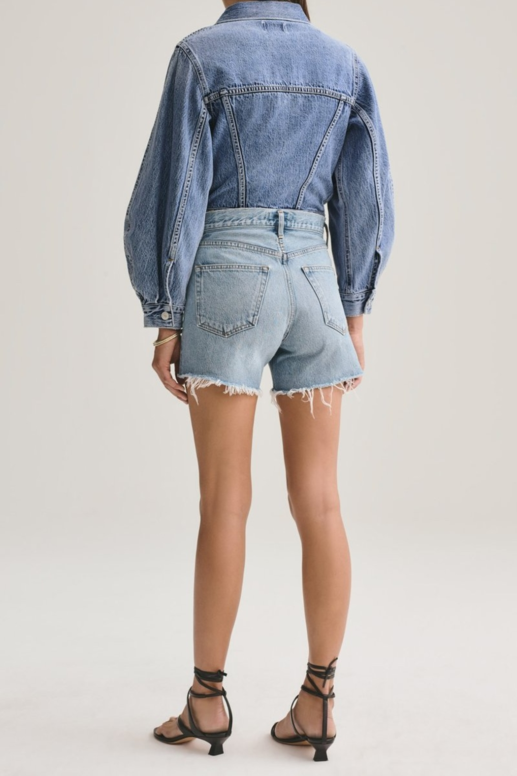 AGOLDE Reese Relaxed Cut Off Short - Front Full Image