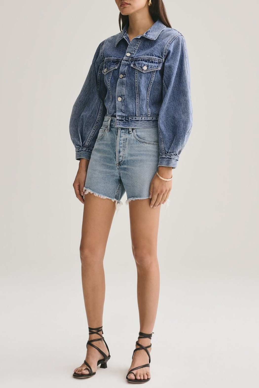 AGOLDE Reese Relaxed Cut Off Short - Front Cropped Image
