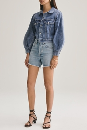 AGOLDE Reese Relaxed Cut Off Short - Front cropped