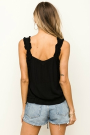Hem & Thread Reese Ruffle Tank - Back cropped