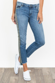 Kut from the Kloth Reese Varsity Stripe Jean - Product Mini Image