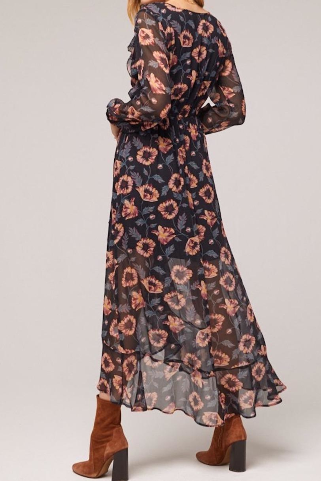 Band Of Gypsies Reese Wrap Maxi - Side Cropped Image