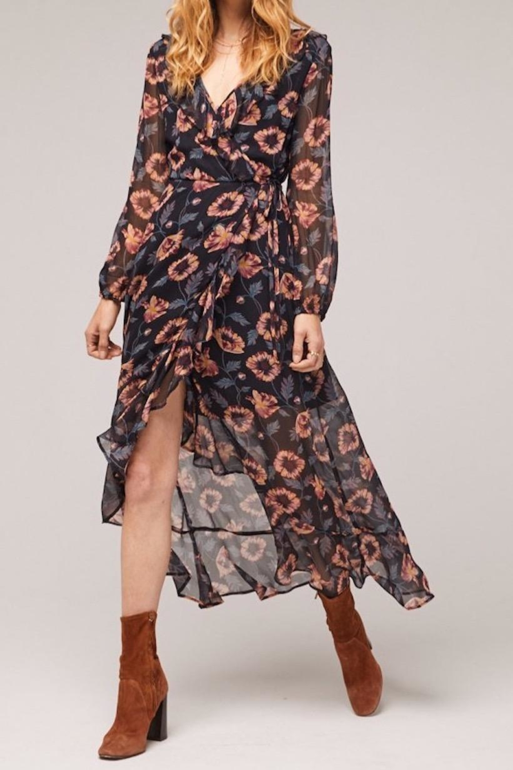 Band Of Gypsies Reese Wrap Maxi - Front Full Image