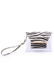Urban Expressions Reese Zebra Clear Wristlet - Front cropped