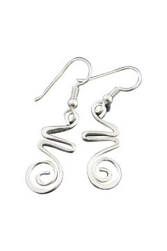 Shoptiques Product: Hazy Silver Earrings