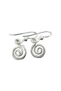 Shoptiques Product: Swirl Silver Earrings