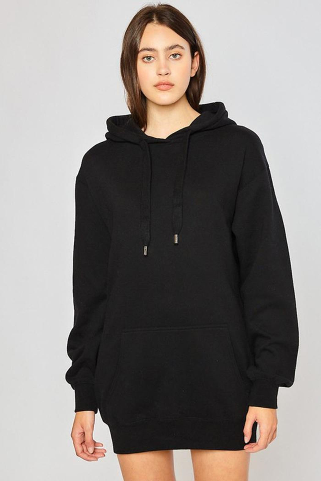 Reflex Oversized Tunic Hoodie - Front Cropped Image
