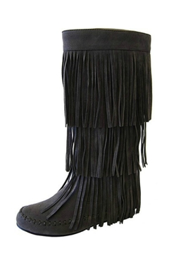 Shoptiques Product: Gray Fringe Boots