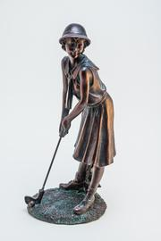 Regal Bronze Lady Golfer - Front cropped