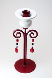 Regal Red White Candlestick - Product Mini Image