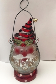 Regal Santa Metal Lantern - Front cropped