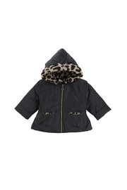1+ in the family REGINA 1+ In The Family Black Leopard Jacket - Front cropped
