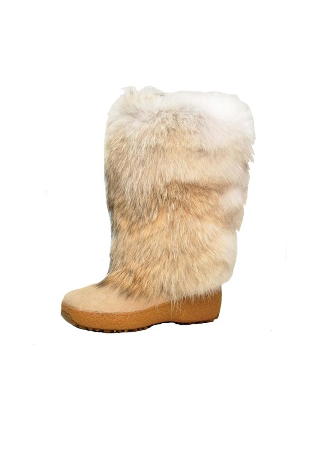 Regina Coyote Fur Boot - Main Image