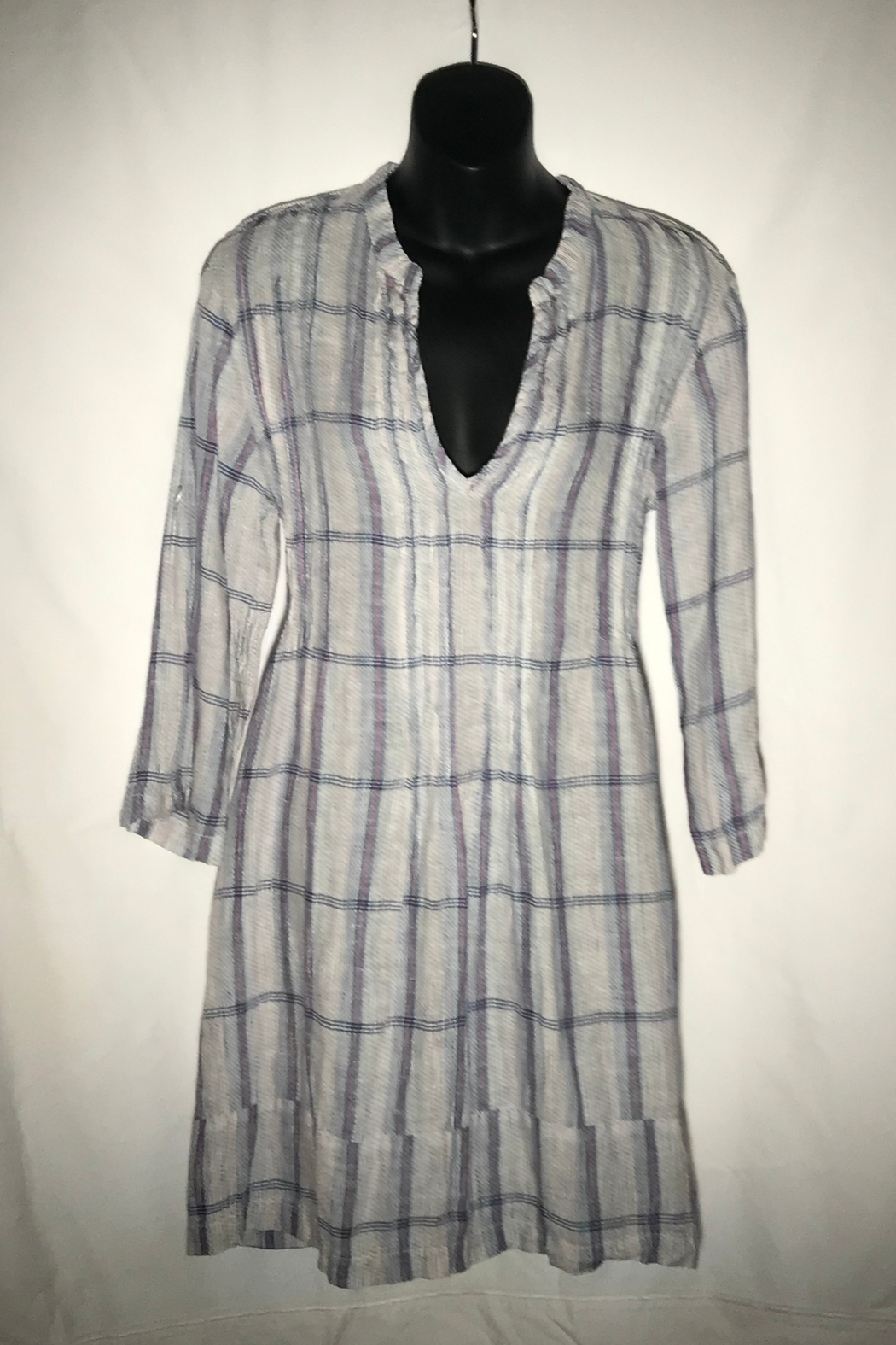 CP Shades Regina Textured Plaid tunic - Front Full Image