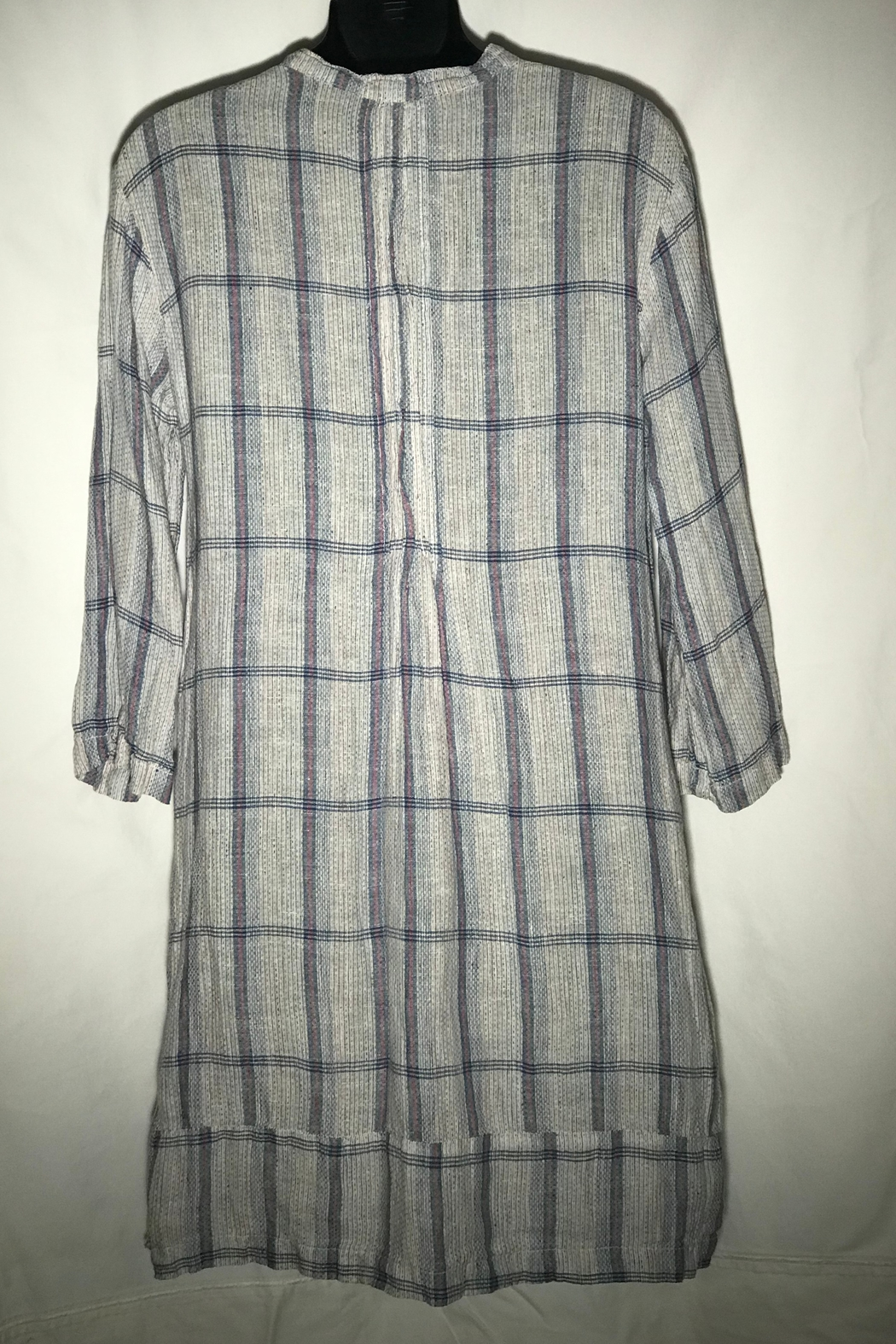 CP Shades Regina Textured Plaid tunic - Side Cropped Image
