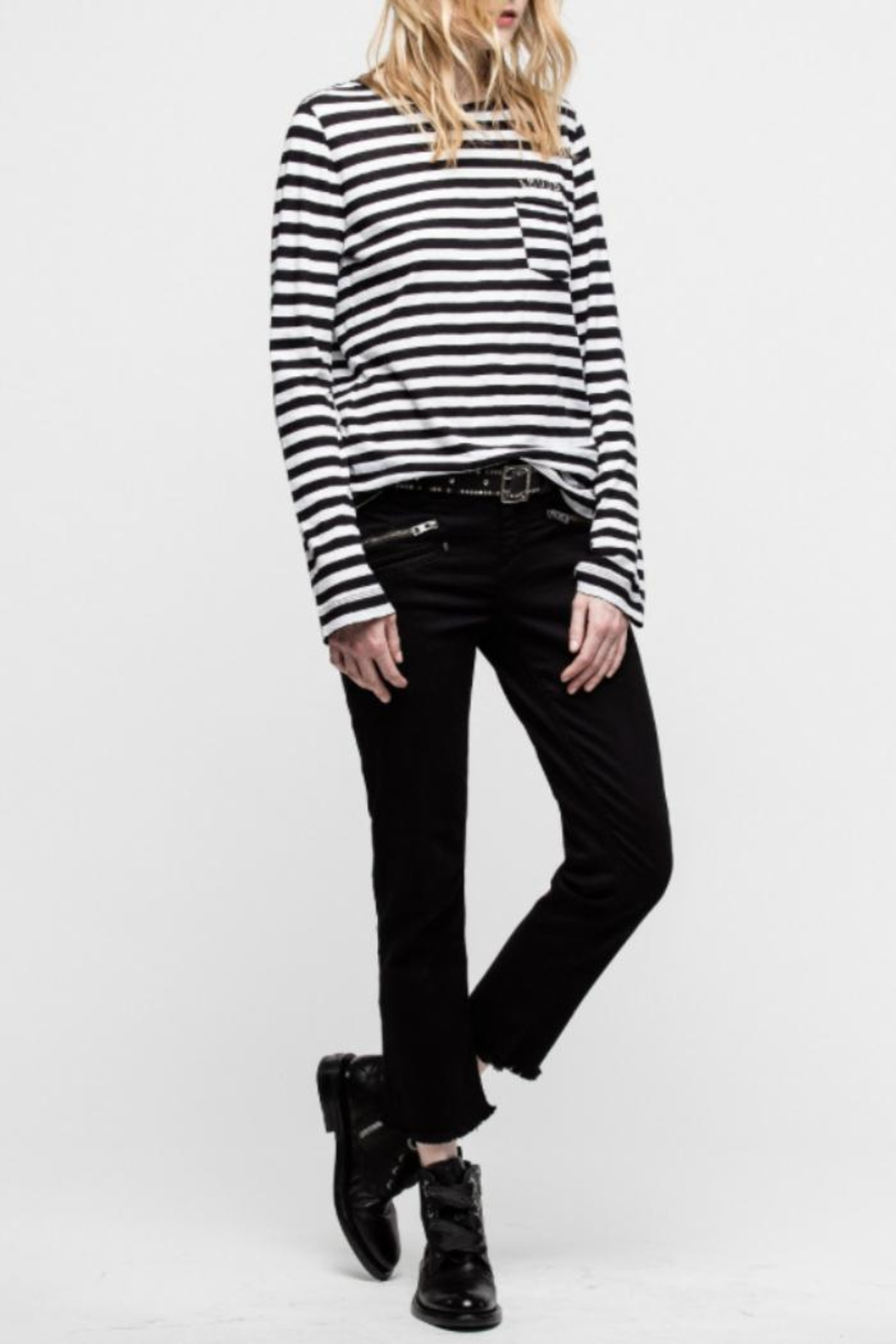 Zadig & Voltaire Regy Stripes Shirt - Front Full Image