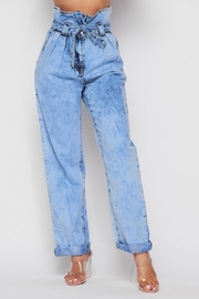 Rehab Acid Wash Mom Jeans - Front cropped