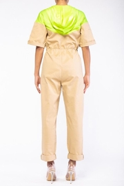 Rehab Beige & Yellow Coveralls - Front full body