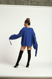Rehab Blue Distressed Sweatshirt - Front full body