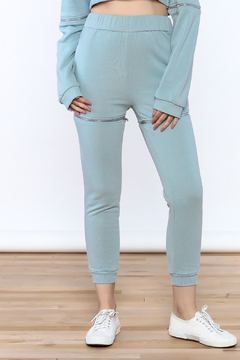 Shoptiques Product: Soft Blue Sweatpants