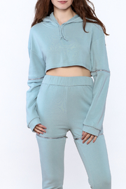 Rehab Soft Blue Hooded Sweatshirt - Product Mini Image