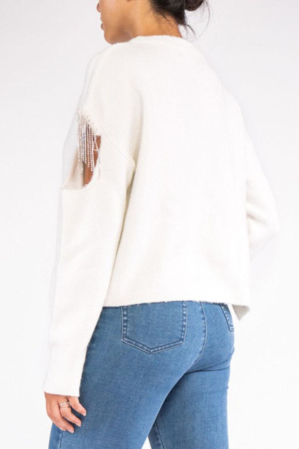 Rehab Cut Out Sweater - Back Cropped Image