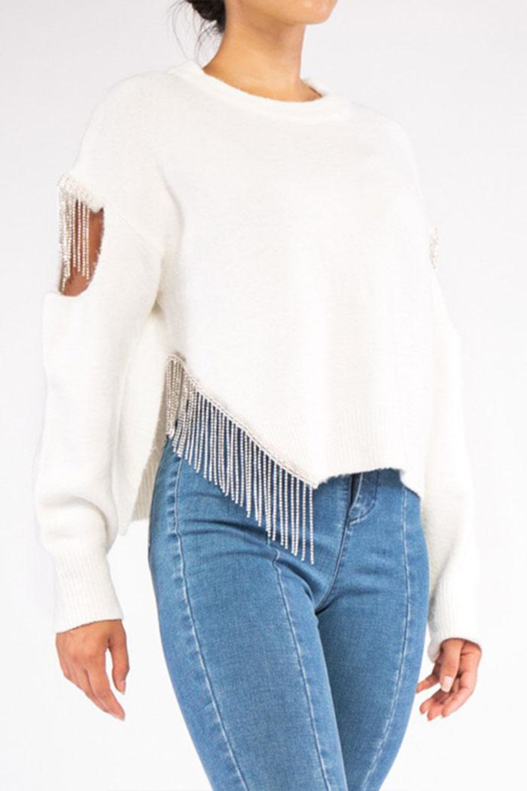 Rehab Cut Out Sweater - Front Full Image