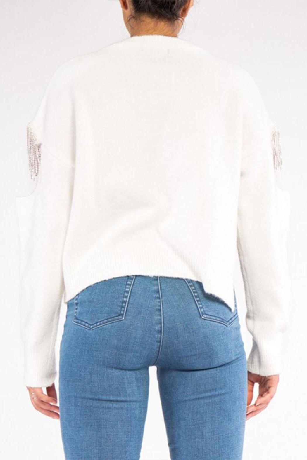 Rehab Cut Out Sweater - Side Cropped Image