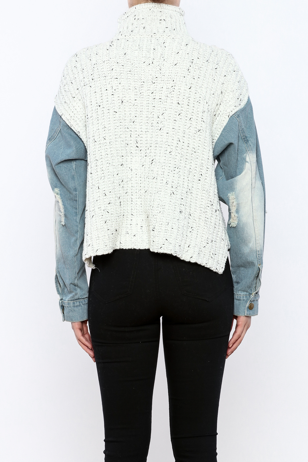 Rehab Denim Sleeve Sweater From Manhattan By Dor L Dor