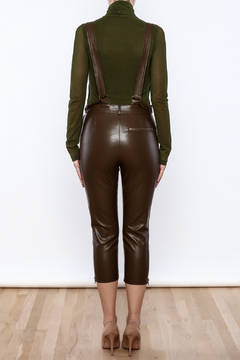 Rehab Faux Leather Overalls - Alternate List Image