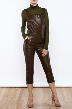 Rehab Faux Leather Overalls - Product List Image