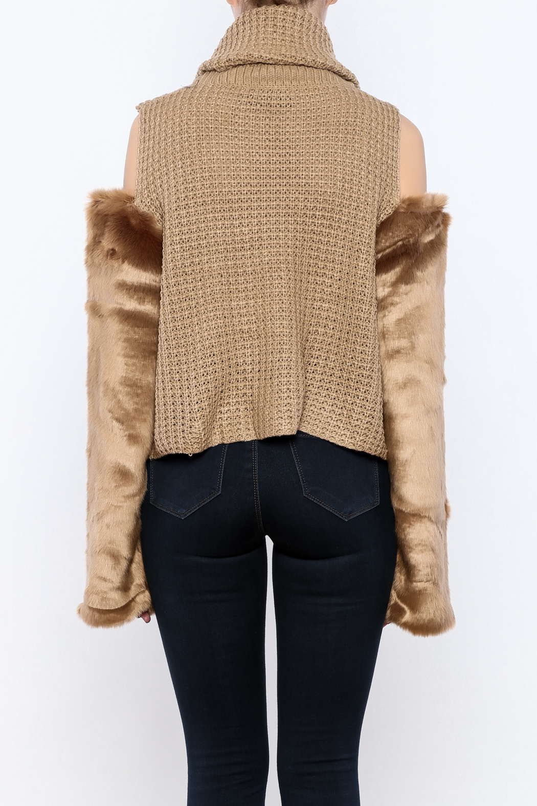 Rehab Faux Fur Sleeve Sweater from New York City by Dor L'Dor ...