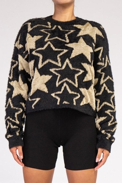 Shoptiques Product: Fuzzy Star Sweater