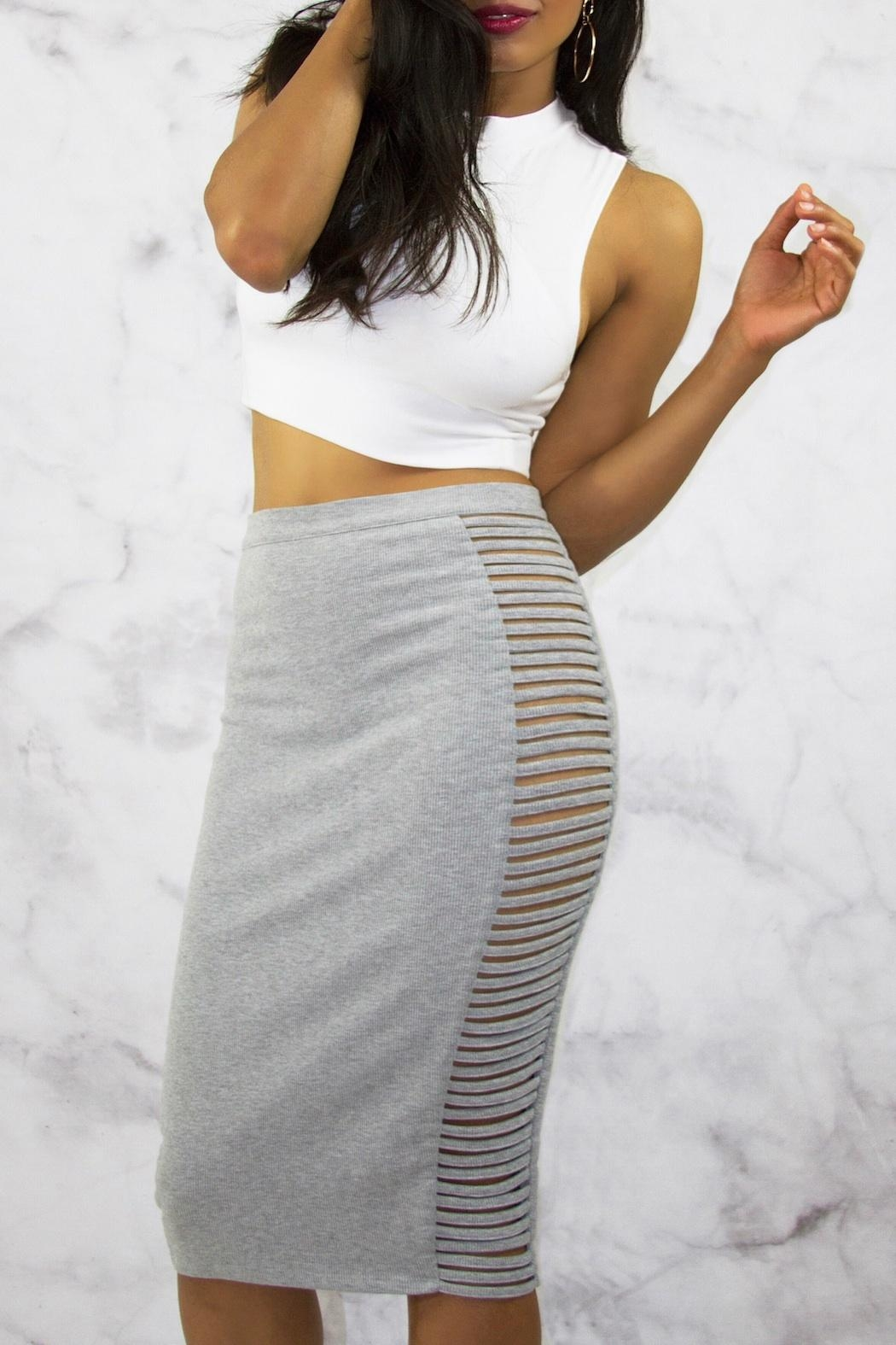 Rehab Grey Midi Skirt - Main Image