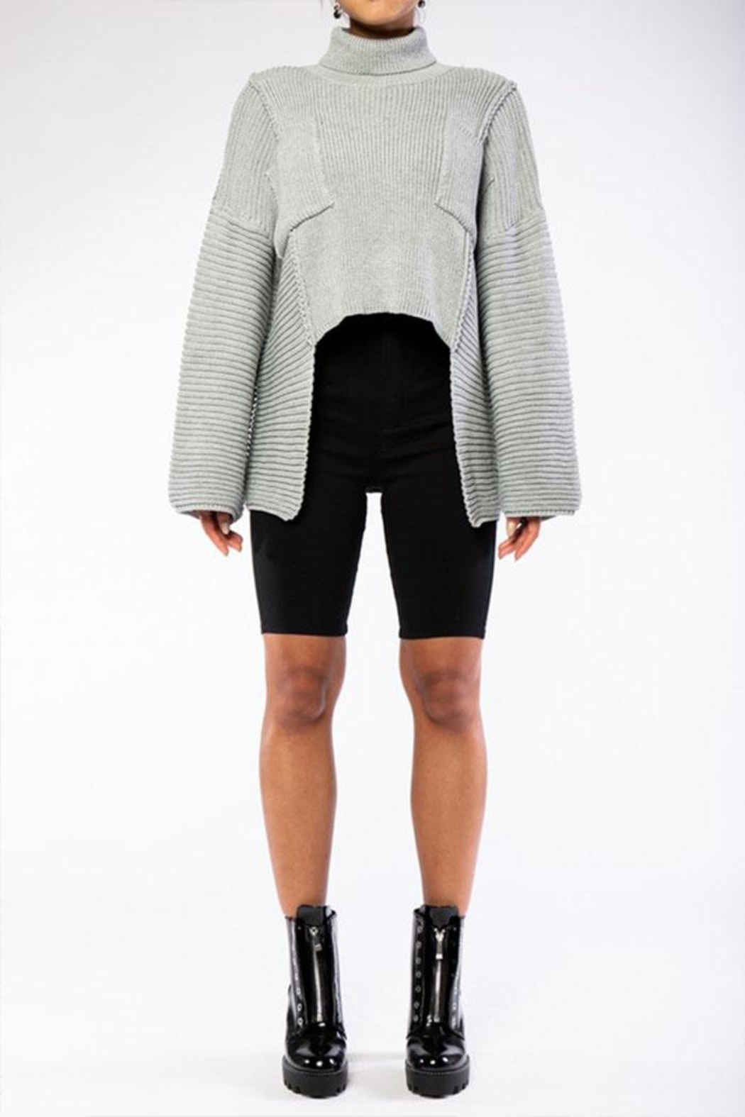 Rehab High Low Sweater - Side Cropped Image