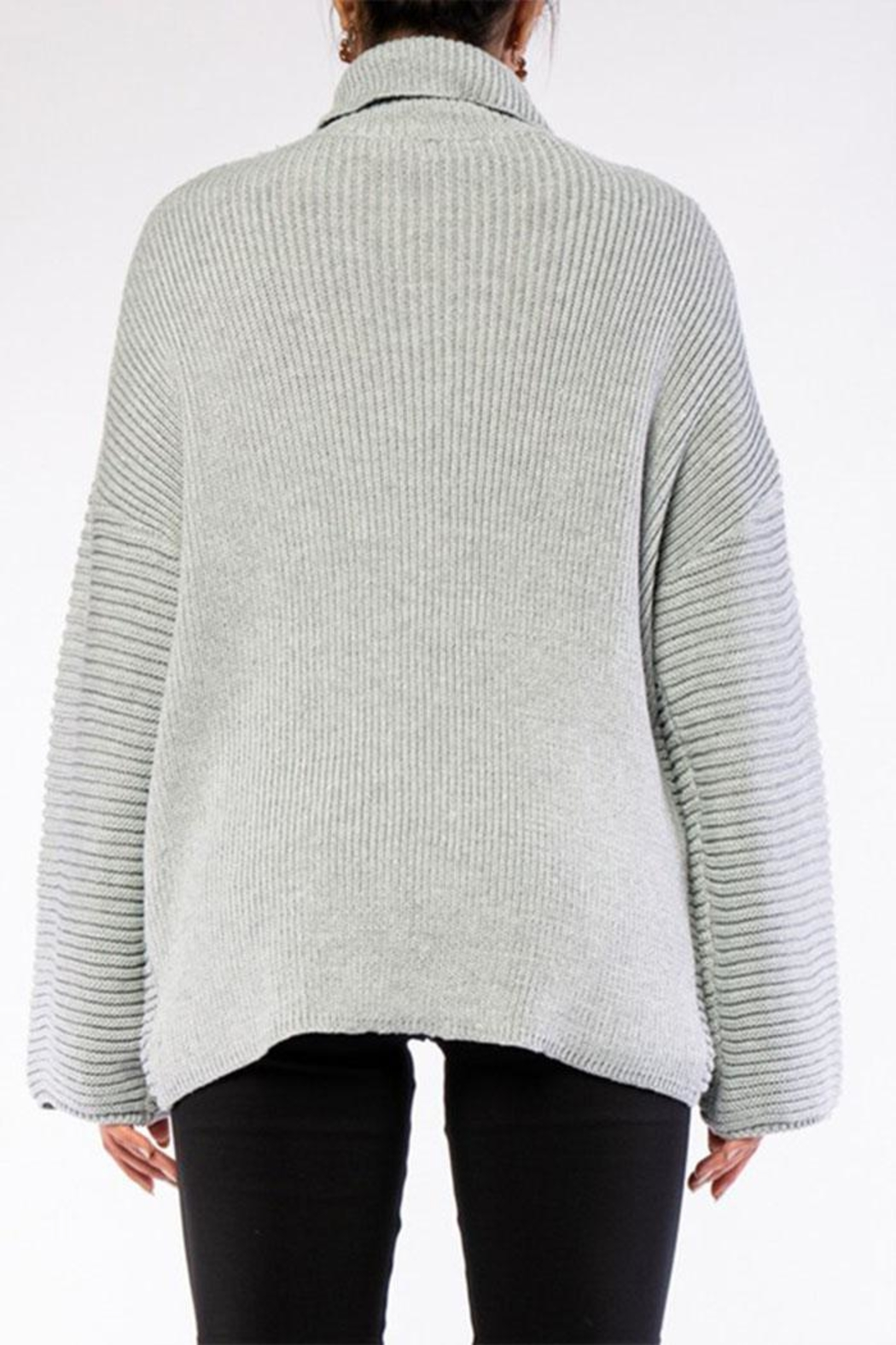 Rehab High Low Sweater - Back Cropped Image