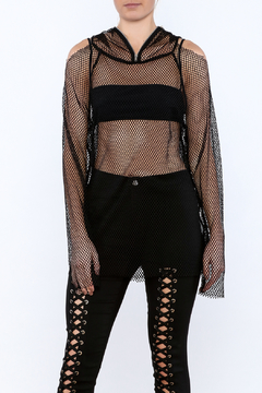 Shoptiques Product: Black Mesh Tunic Top