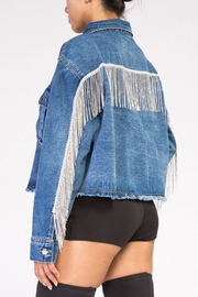 Rehab Rhinestone Denim Jacket - Front full body