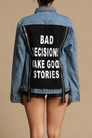 Rehab Signature Denim Jacket - Front cropped