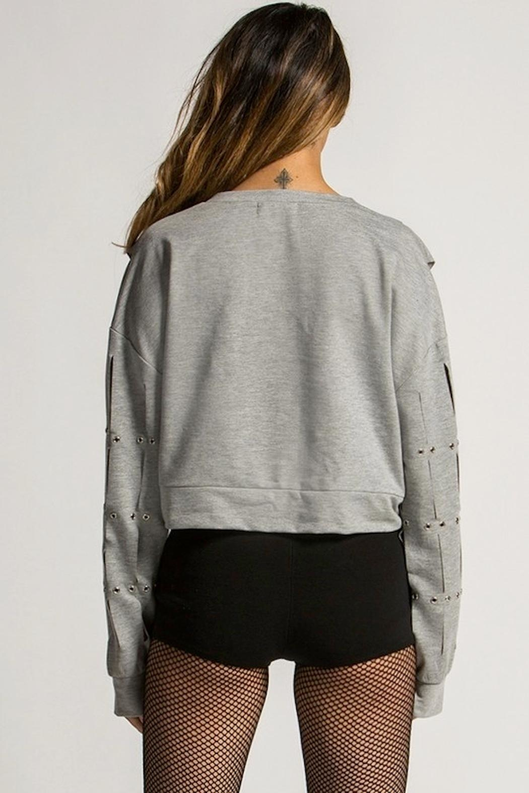 Rehab Slitted Lightweight Sweatshirt - Side Cropped Image