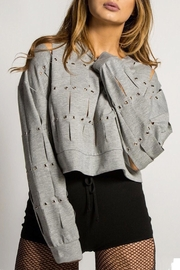 Rehab Slitted Lightweight Sweatshirt - Front cropped