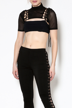 Shoptiques Product: Sheer Black Vixen Top