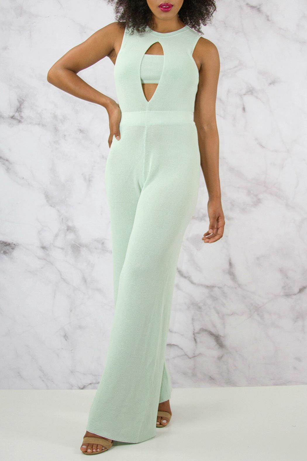 Rehab Wide Leg Jumpsuit - Front Cropped Image