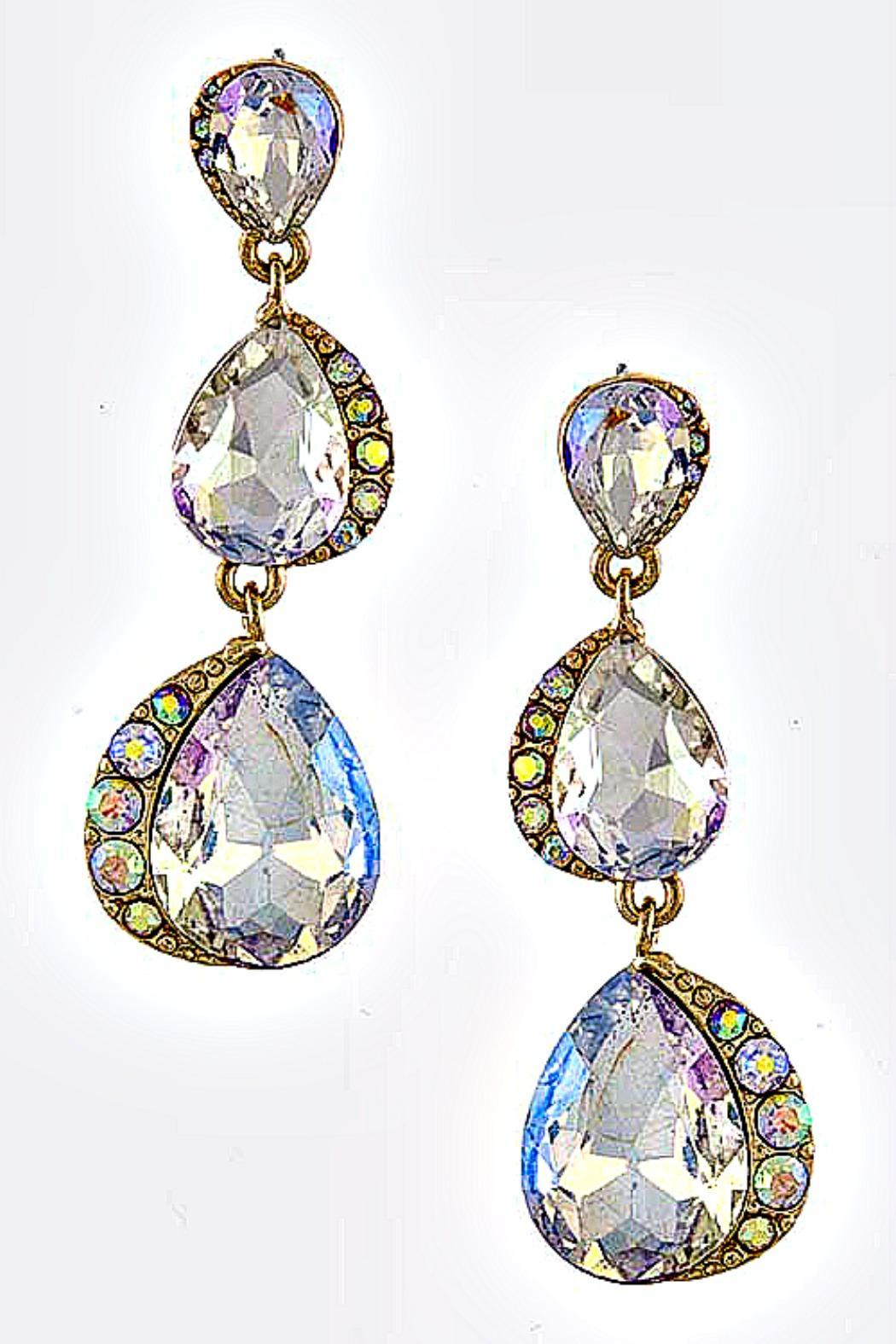 Reina Triple Teardrop Earrings - Main Image