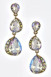 Reina Triple Teardrop Earrings - Product Mini Image